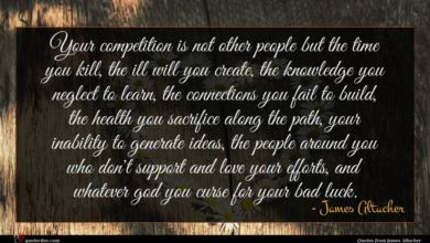 Photo of James Altucher quote : Your competition is not …