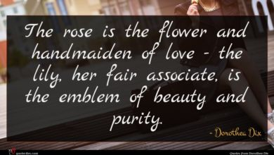 Photo of Dorothea Dix quote : The rose is the …
