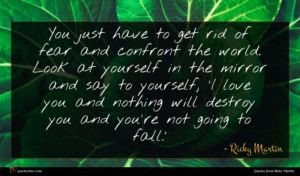 Ricky Martin quote : You just have to ...