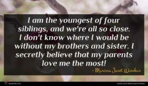 Marissa Jaret Winokur quote : I am the youngest ...