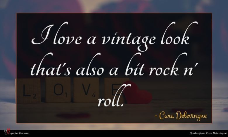 I love a vintage look that's also a bit rock n' roll.