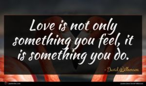 David Wilkerson quote : Love is not only ...
