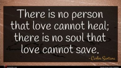 Photo of Carlos Santana quote : There is no person …