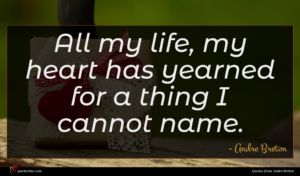 Andre Breton quote : All my life my ...