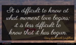 Henry Wadsworth Longfellow quote : It is difficult to ...