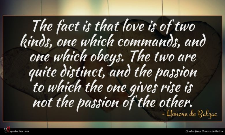 Photo of Honore de Balzac quote : The fact is that …