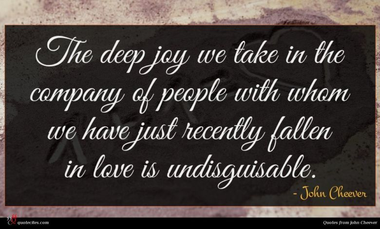 The deep joy we take in the company of people with whom we have just recently fallen in love is undisguisable.