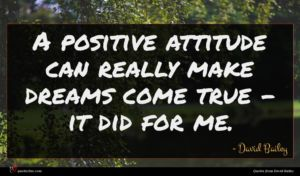 David Bailey quote : A positive attitude can ...