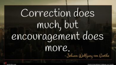 Photo of Johann Wolfgang von Goethe quote : Correction does much but …