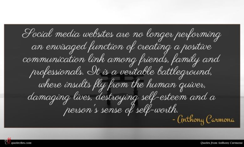 Social media websites are no longer performing an envisaged function of creating a positive communication link among friends, family and professionals. It is a veritable battleground, where insults fly from the human quiver, damaging lives, destroying self-esteem and a person's sense of self-worth.