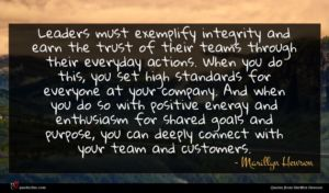 Marillyn Hewson quote : Leaders must exemplify integrity ...