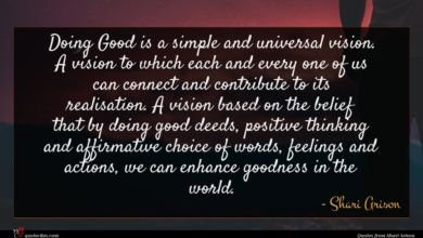 Photo of Shari Arison quote : Doing Good is a …