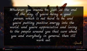 Gnash quote : Whatever you wanna be ...