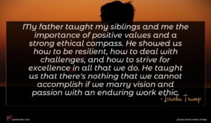 Ivanka Trump quote : My father taught my ...