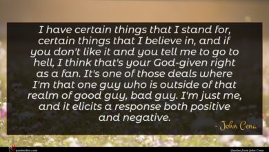 Photo of John Cena quote : I have certain things …