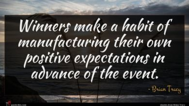 Photo of Brian Tracy quote : Winners make a habit …