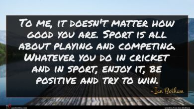 Photo of Ian Botham quote : To me it doesn't …
