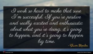 Shawn Mendes quote : I work so hard ...