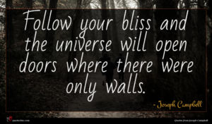 Joseph Campbell quote : Follow your bliss and ...