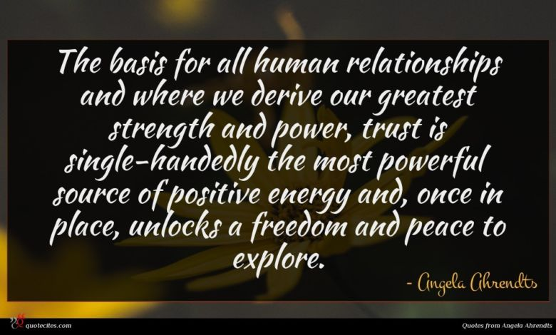 The basis for all human relationships and where we derive our greatest strength and power, trust is single-handedly the most powerful source of positive energy and, once in place, unlocks a freedom and peace to explore.