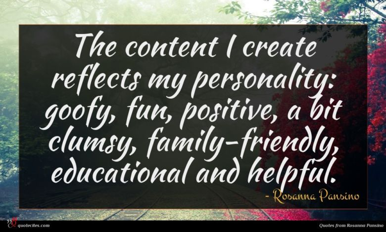 The content I create reflects my personality: goofy, fun, positive, a bit clumsy, family-friendly, educational and helpful.