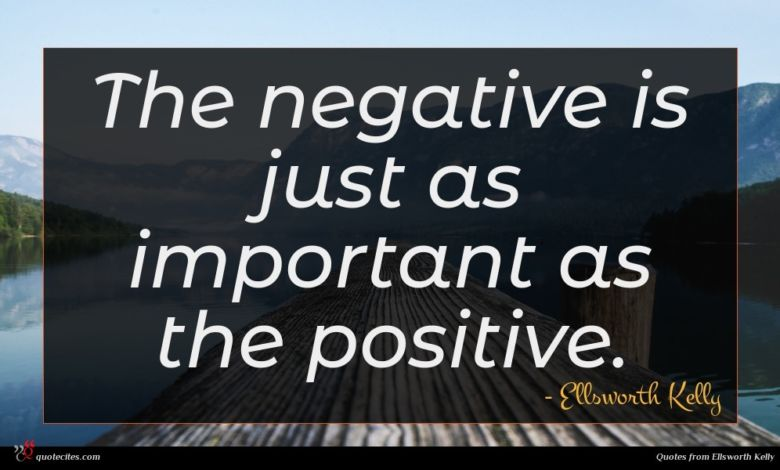 The negative is just as important as the positive.
