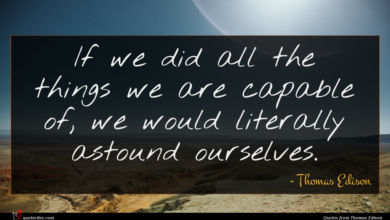 Photo of Thomas Edison quote : If we did all …