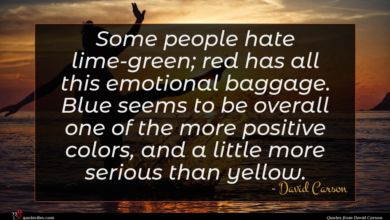 Photo of David Carson quote : Some people hate lime-green …