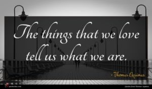 Thomas Aquinas quote : The things that we ...