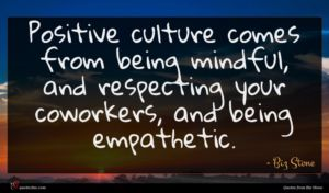 Biz Stone quote : Positive culture comes from ...
