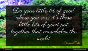Desmond Tutu quote : Do your little bit ...