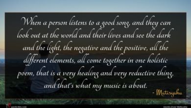 Photo of Matisyahu quote : When a person listens …