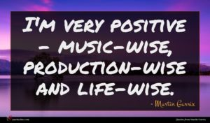 Martin Garrix quote : I'm very positive - ...
