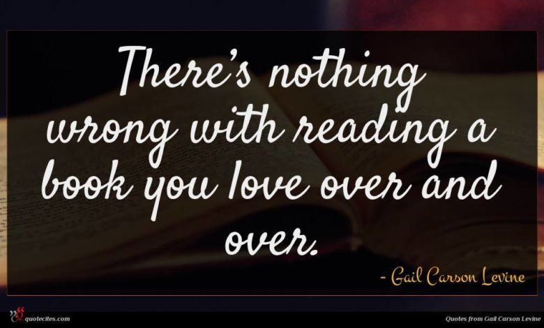 There's nothing wrong with reading a book you love over and over.