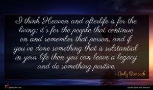 Andy Biersack quote : I think Heaven and ...