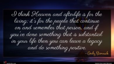 Photo of Andy Biersack quote : I think Heaven and …