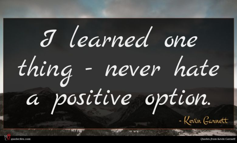 I learned one thing - never hate a positive option.