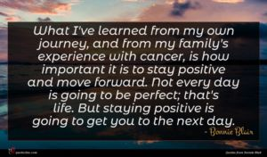 Bonnie Blair quote : What I've learned from ...