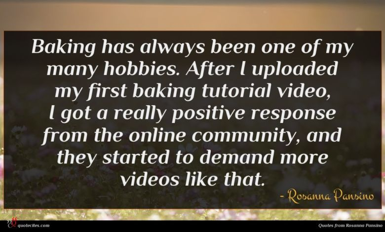 Baking has always been one of my many hobbies. After I uploaded my first baking tutorial video, I got a really positive response from the online community, and they started to demand more videos like that.