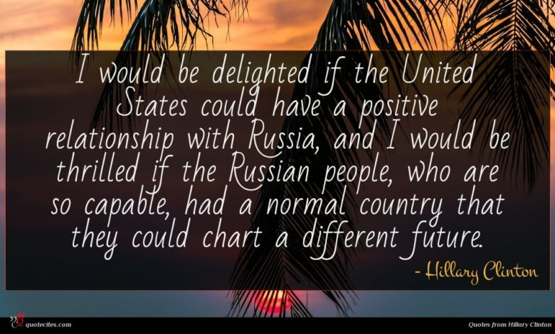 Photo of Hillary Clinton quote : I would be delighted …