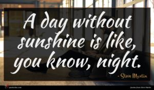 Steve Martin quote : A day without sunshine ...
