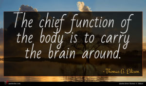Thomas A. Edison quote : The chief function of ...
