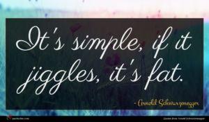 Arnold Schwarzenegger quote : It's simple if it ...