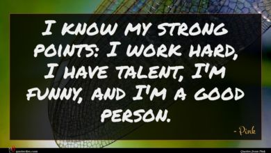 Photo of Pink quote : I know my strong …