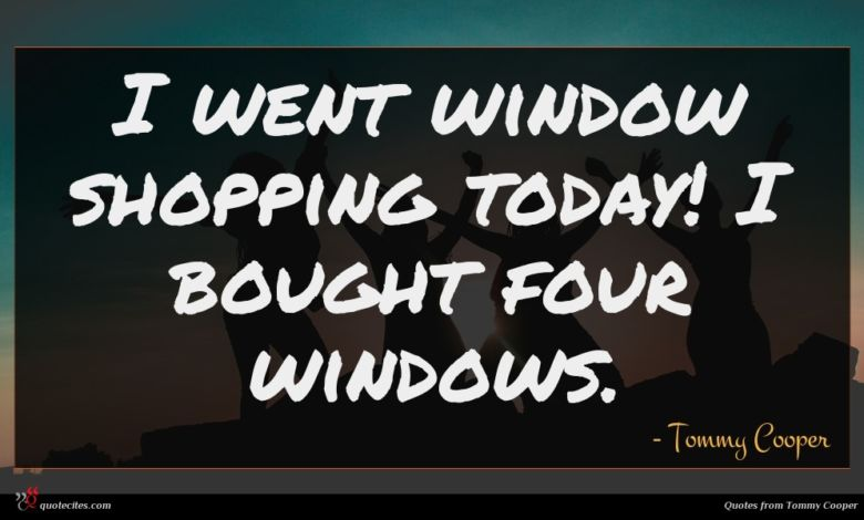 I went window shopping today! I bought four windows.