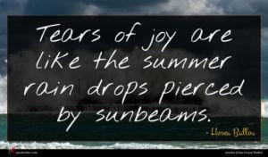 Hosea Ballou quote : Tears of joy are ...