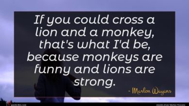 Photo of Marlon Wayans quote : If you could cross …