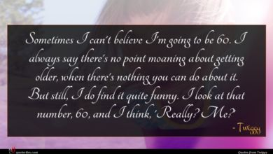 Photo of Twiggy quote : Sometimes I can't believe …
