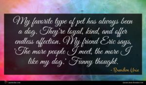 Brendon Urie quote : My favorite type of ...