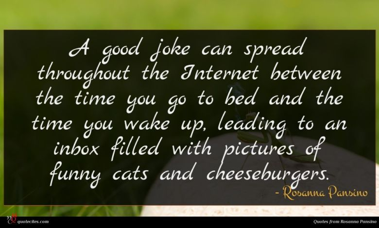A good joke can spread throughout the Internet between the time you go to bed and the time you wake up, leading to an inbox filled with pictures of funny cats and cheeseburgers.
